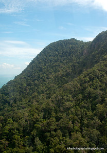 Mountains in Langkawi, Malaysia, in June 2011