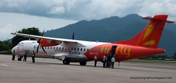 A Firefly aircraft at Langkawi airport, Malaysia in June 2011