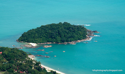 An island seen from the cable car station lookout at Langkawi, Malaysia, in June 2011