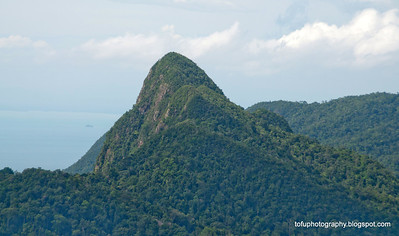 Mountains at Langkawi, Malaysia, in June 2011