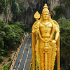 """The enormous Murugan statue outside of the Batu Caves, Malaysia.  To view the rest of my travel gallery from Batu Caves, Malaysia click on the photo. <a href=""""http://nomadicsamuel.com"""">http://nomadicsamuel.com</a>"""