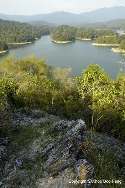 The Klang Gates Dam from Bukit Tabur