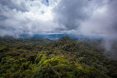 View from Gunung Berinchang, Cameron Highlands, Malaysia