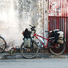 Our bicycles next to famous George Town street art