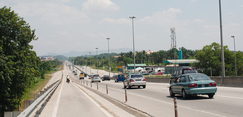 Highway riding on the outskirts of Kuala Lumpur
