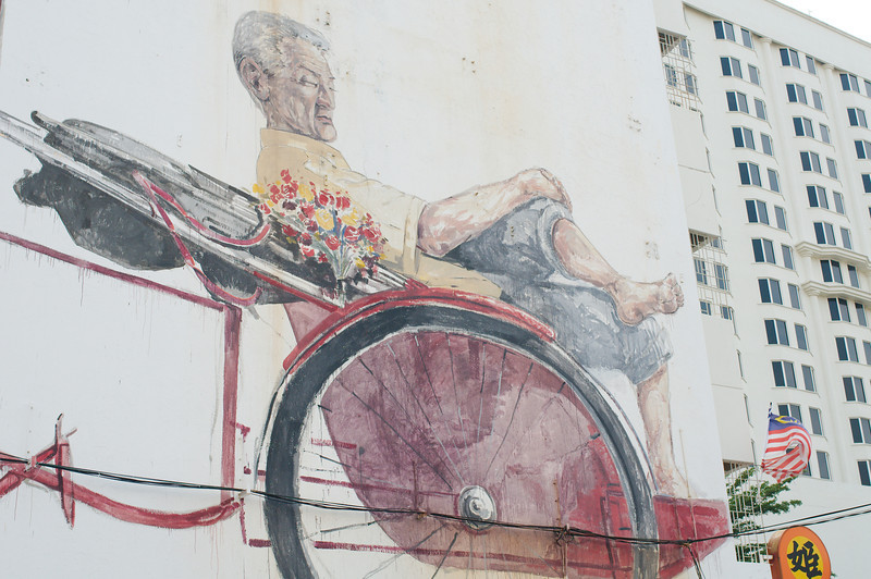 """""""The Awaiting Trishaw Paddler"""" by Ernest Zacharevic"""