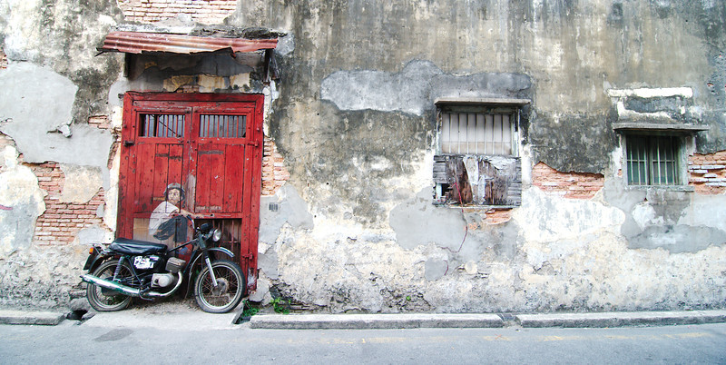 """""""Old Motorcycle"""" by Ernest Zacharevic"""