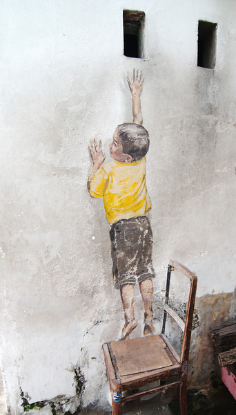 """""""Boy on Chair"""" by Ernest Zacharevic"""