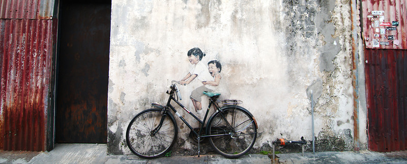 """""""Kids on Bicycle"""" by Ernest Zacharevic"""