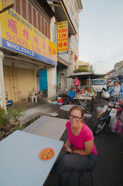 Our first of many street food experiences in George Town