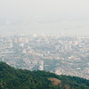 Hazy view of George Town from Penang Hill