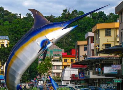 Marlin statue — Kota Kinabalu, Sabah, Borneo, Malaysia