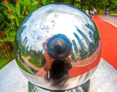 Self portrait in Kuala Lumpur City Centre Park, KL, Malaysia