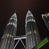 The Petronas Towers by night