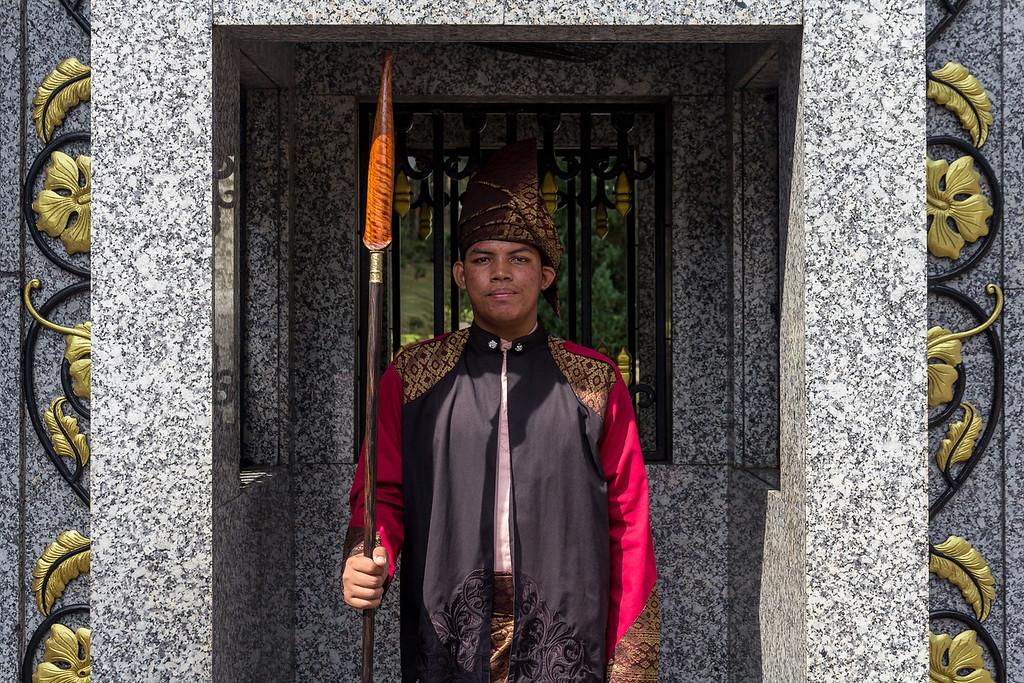 Guard at the King's Palace, Kuala Lumpur