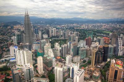 View from Menara Kuala Lumpur (AKA the KL Tower). Malaysia