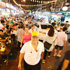 Dining on popular Jalan Alor street