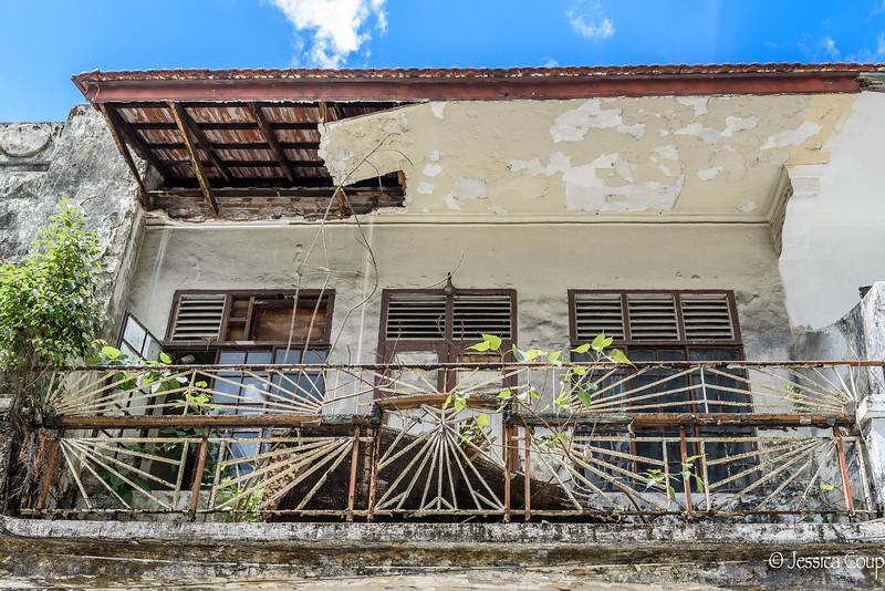 Battered Balcony