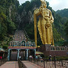 Giant statue of Hindu deity Murugan outside the Batu Caves