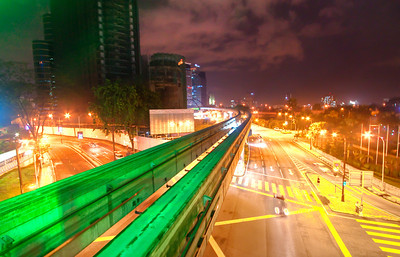Maharajalela monorail station, Kuala Lumpur, Malaysia