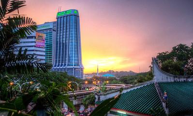 Sunset near Kuan Yin Temple, Kuala Lumpur, Malaysia