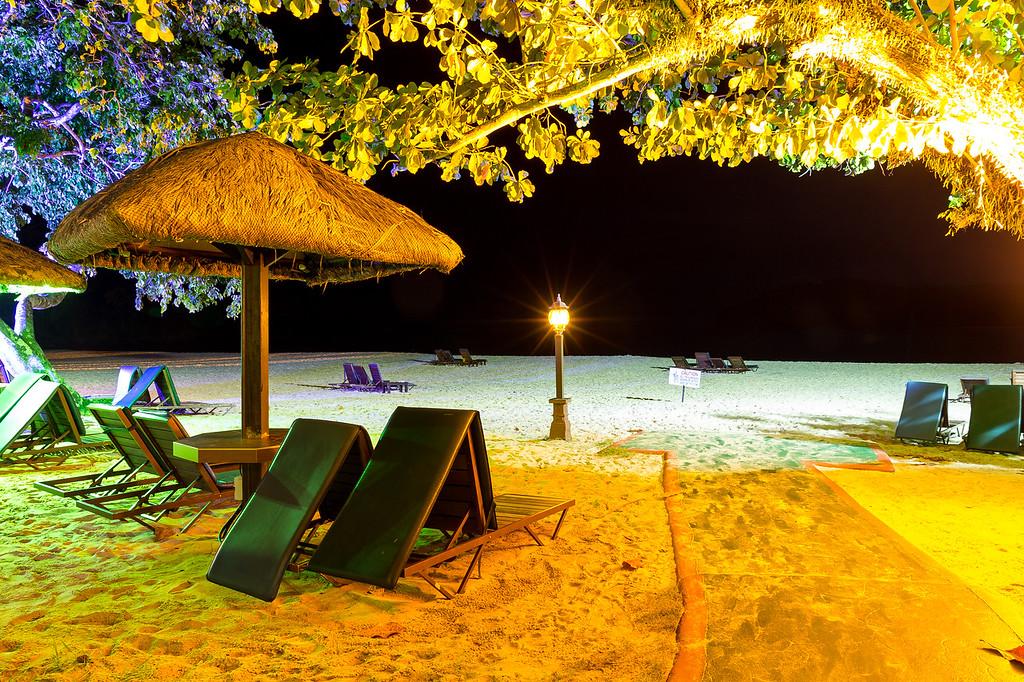 Tengah Beach at night, Langkawi