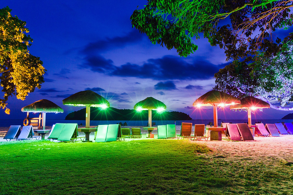 After sunset on Tengah Beach, Langkawi