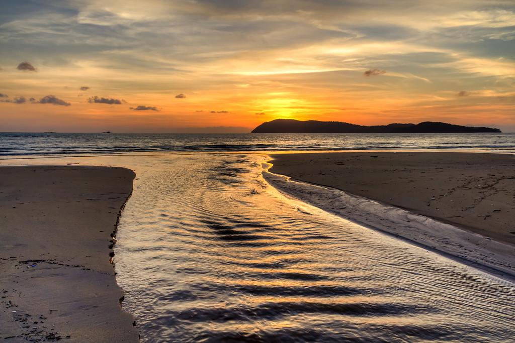 Sunset at Pantai Tengah, Langkawi