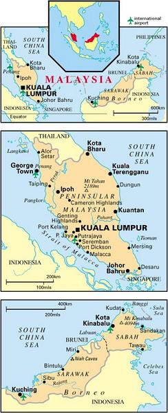 Maps of Malaysia