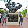 Statue of Dr. Gan Boon Leong, former Mr. Universe (from Melaka)