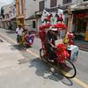 The famous Melaka trishaws