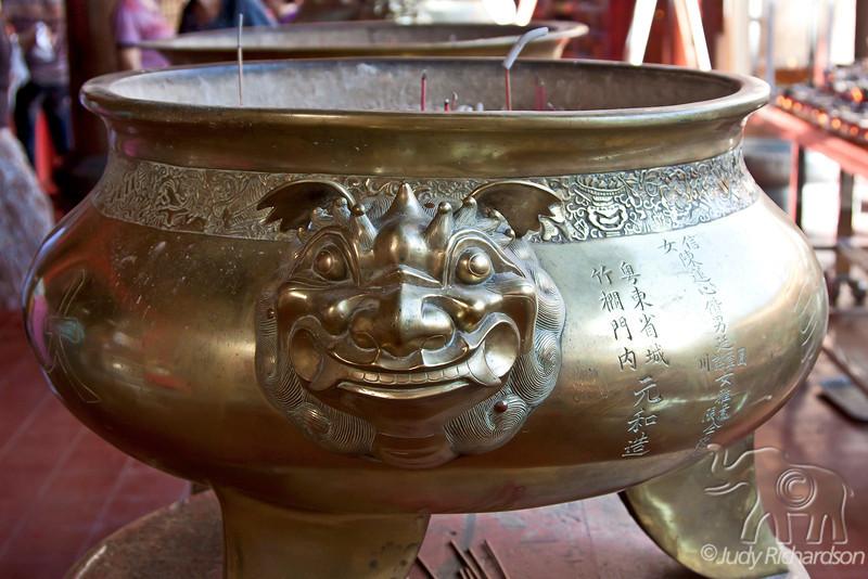 Chinese incense burner in Kek Lok Si Temple.
