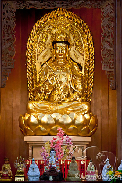 One of many Buddhas in Kek Lok Si Temple.