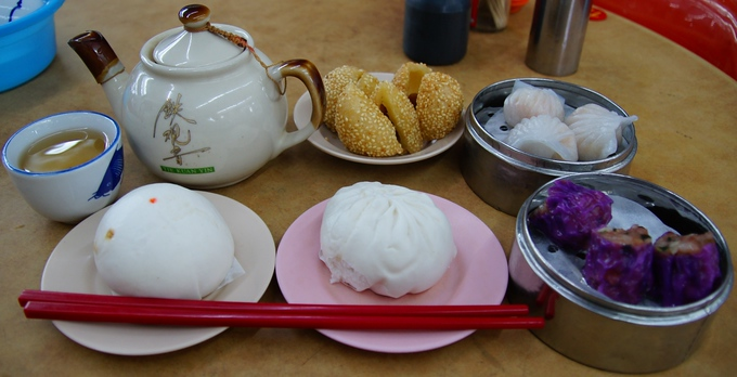 Dim Sum for breakfast in George Town, Penang, Malaysia