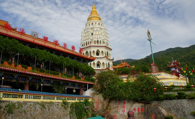 "Kek Lok Si Buddhist Temple located in Air Itam, Penang, Malaysia is know as the ""Temple Of Bliss"" being the largest temple in Southeast Asia."