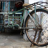 "A parked rickshaw on the streets of George Town (Penang), Malaysia.  This is a travel photo from George Town (Penang), Malaysia. <a href=""http://nomadicsamuel.com"">http://nomadicsamuel.com</a>"