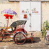 Red Trishaw and Pink Bike
