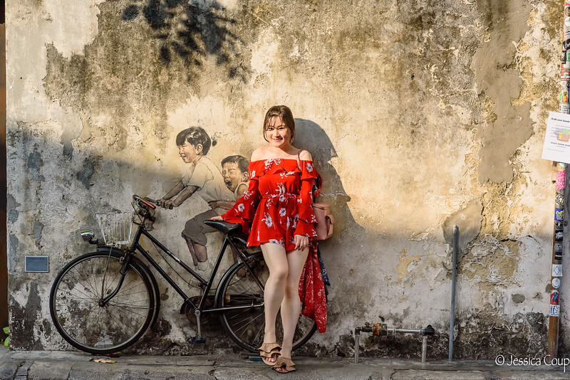 Posing with the Street Art