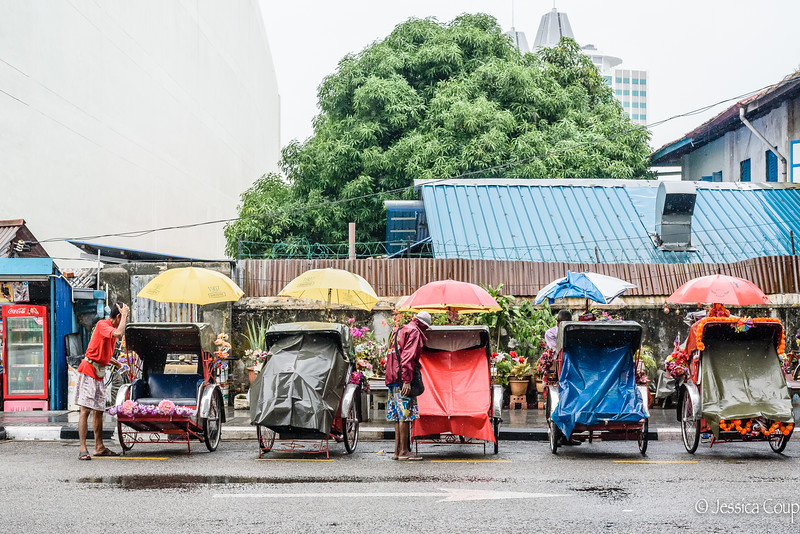 Trishaws in the Rain