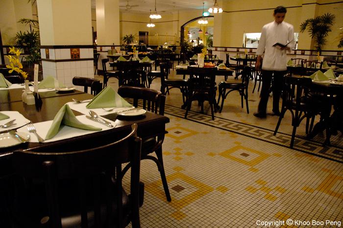 Restaurant in Eastern & Oriental Hotel, Penang