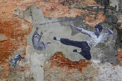 Street art.  Georgetown, Penang, Malaysia