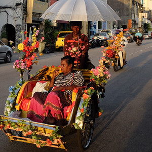 Typical rickshaw in Georgetown, Penang, Malaysia