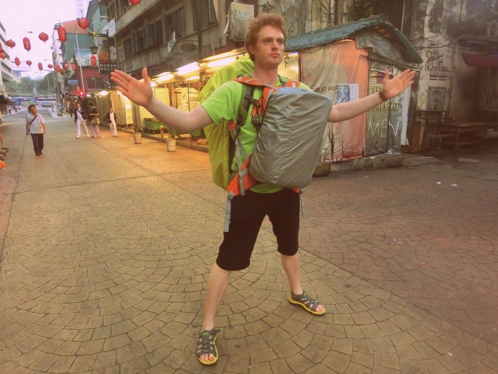 Walking through Chinatown in KL, Malaysia