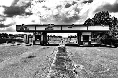 Malco Summer Drive In Front B&W