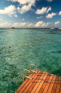 Tropical seascape in Maldives