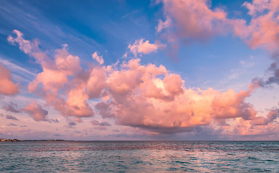 Tropical morning seascape in Maldives