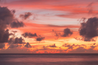 Dramatic Sunset Sky in Maldives