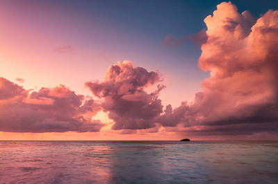 Beautiful Sunset in Maldives