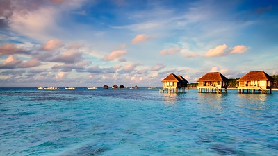 Maldivian water bungalows