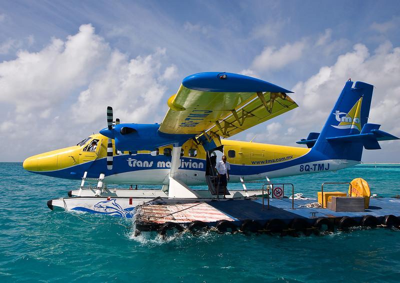Trans Maldivian seaplane, Sun Island, Maldives